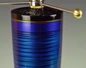 Table Lamp. Living Room Lamp. Desk lamp. Short lamp. Nightstand lamp. Metallic Blue. Atomic retro. Art Deco. Space age. 271