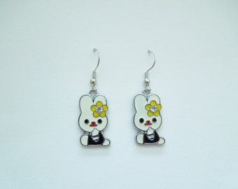 Bunny Earrings - Sitting Bunny - Rabbit Earrings - Store Closing