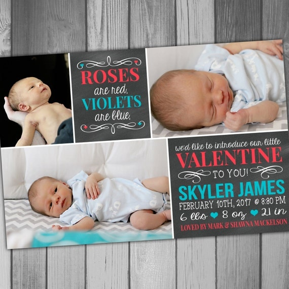 Valentines Day Baby Announcement Ideas – Valentine Birth Announcement