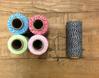 Cotton Bakers Twine for Crafts, Scrapbooking, Hobbies and Baking