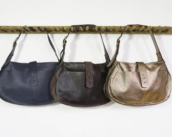 Saddle Bag - Navy/Oil Tanned/Bronze - SALE - 50% OFF