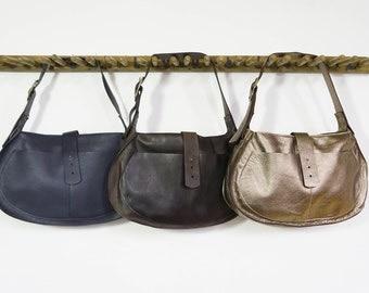 Saddle Bag - Navy/Oil Tanned/Bronze - SALE - 40% OFF