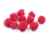 Red Hmong Cotton Pom Poms DIY Hill Tribe Thailand  (DIY7587-11C4)
