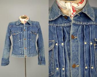 1940s Wrangler Denim 11MJ 1947 Blue Bell Indigo Selvedge Denim Jean Jacket