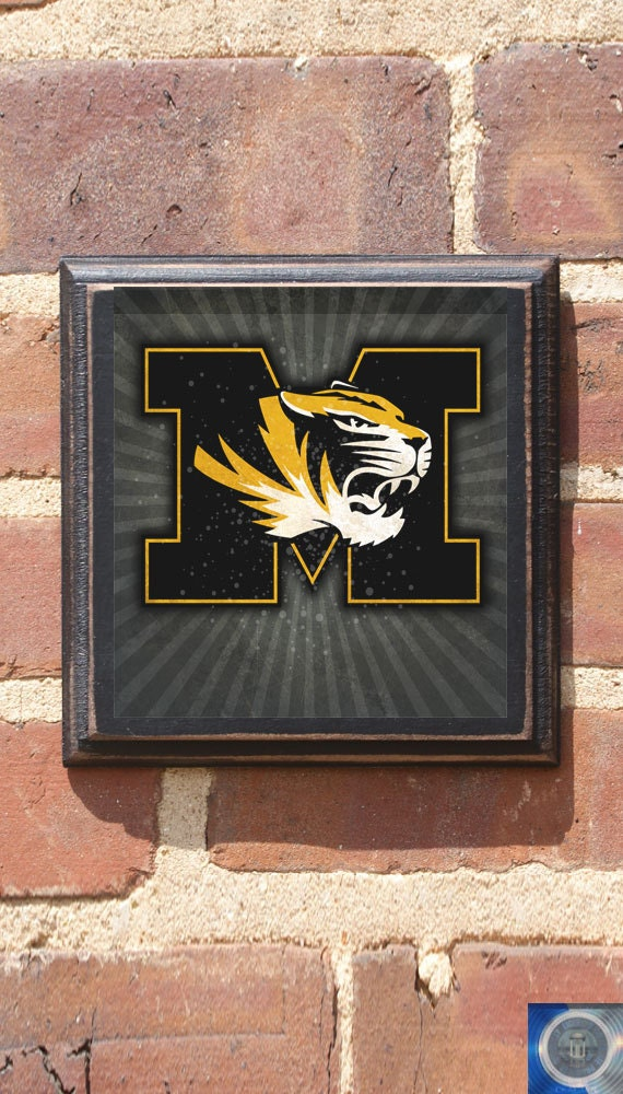 The Man Cave Decor Store Riverside Mo : Missouri tigers fight wall art sign plaque