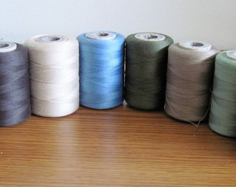 8  Vintage American Thread Company Star 3 Cord Cotton Thread Spools Assorted Colors Lot 3