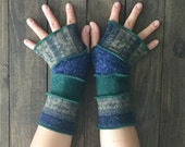 Fingerless Gloves- Made from Recycled Sweaters, Arm Warmers- made from 100% Upcycled Clothing