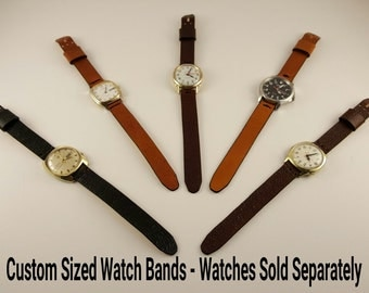 Handmade Leather Watchbands - Custom Sized