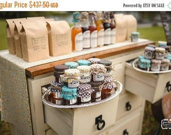 SALE ends Sunday 175 Custom Wedding Favors in Mini Mason Jars