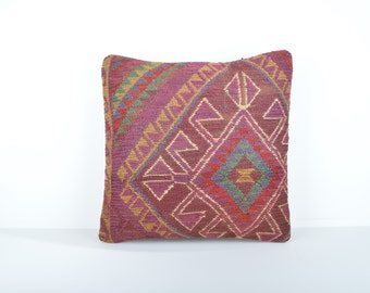 Kilim pillow cover, kp1682, Kilim Pillow, Turkish Pillow, Kilim Cushions, Kilim, Moroccan Pillow, Bohemian Pillow, Turkish Kilim