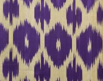 Sale! Ikat Fabric, Ikat Fabric by the yard, Hand Woven Fabric , F-A460-15