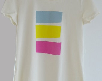 Art Silk screen Women Tshirt ORGANIC cotton Spring