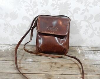 Vintage Leather Purse, Bosboom Purse, Dark Brown leather, made in the Netherlands, Dutch