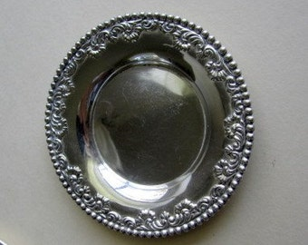 Vintage Miniature Sterling Dollhouse or Toy Tray.  Maker, F & B.
