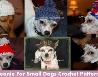 Instant Download Crochet Pattern -  Basic Dog Hat - Chihuahuhua Beanie