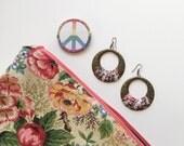 Handmade Floral Print Makeup Travel Bag - Gifts Under 30