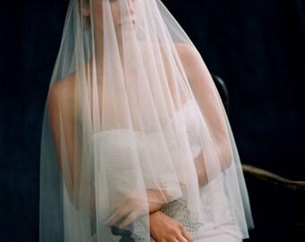 Fingertip Tulle Drop Veil, Fine Tulle Wedding Veil, Bridal Veil -Style 2016