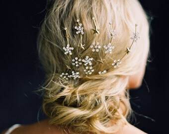 Crystal Headpiece, Bridal Hair Comb, Galaxy Headpiece -Style 6316