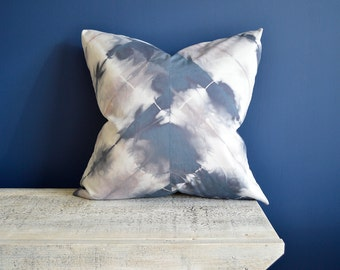 20x20 inch Sea Stone Blue Shibori Pillow Cover