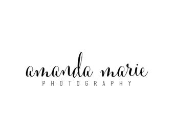 Photography Logo and Watermark : Signature, Black and White, Pink, Fuchsia, Font Premade Design, Text, Simple, Minimal, Colorful