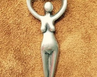 Goddess Charm Lead Free Pewter