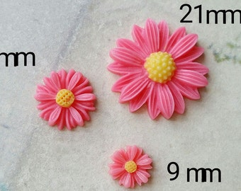 Hot Pink Colour Little Chrysanthemum Resin Flowers of Different Sizes (.tc .sm .sg)