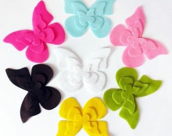 Felt Butterflies VI. Set of 21 pieces. Die Cut Shapes, Applique, Party Supply, DIY Wedding