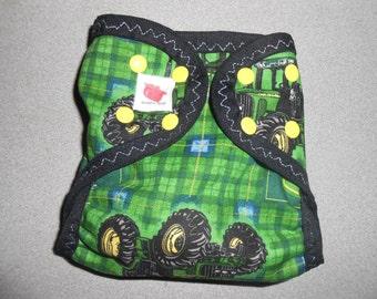 Sized John Deere Diaper Cover