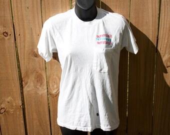 SALE 80s Rare Beetlejuice shirt - Tim Burton Michael Keaton - Betelgeuse movie pocket tee - Horror film