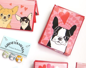 Boston Terrier greeting card - funny dog card - dog anniversary card - boston terrier love card - black and white dog card