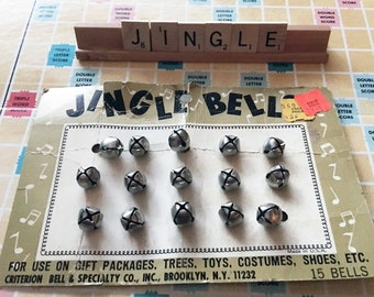 Vintage Jingle Bells - Never Used - 15 Bells Still on the Card!