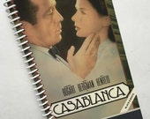 CASABLANCA Notebook Journal upcycled spiral notebook Recyled VHS box