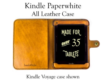 Kindle Paperwhite Case, All Leather - No Plastic - Free Inscription
