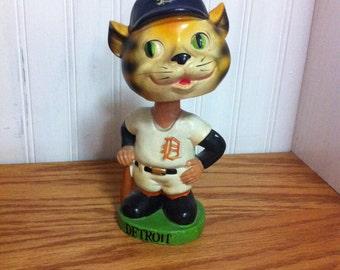 Detroit Tiger bobble head - 1962 bobble head- mascot bobble head- baseball bobble head