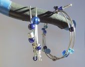 Recycled Bicycle Cable , Bicycle Jewelry , Bicycle Accessories , Upcycled Jewelry , Wrap Bracelet , Wire Bracelet