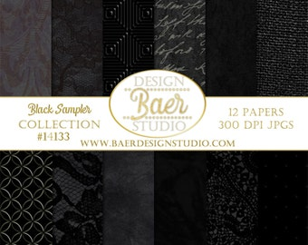 BLACK DIGITAL PAPER:Textured Digital Paper, Black Digital Background Paper, Graduation Digital Paper, 12x12 digital paper, #14133