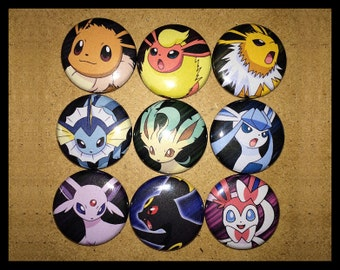 Pokemon Eeveelutions Button Pinback Set