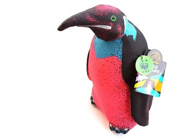 New Vintage WWF World Wildlife Foundation 1992 1990s Hipster Neon Emperor Penguin Plush Home Decor NWT