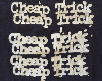 original CHEAP TRICK Tour Shirt - 1970's - Size Small