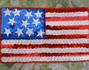 Sequined Flag Appliques