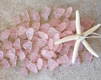Sea Glass & Starfish Mobile - Pink