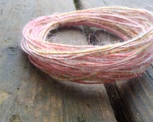 Fiber Wire Core Handspun Art Yarn 24 gauge wire Red Riding Hoods Wolf- Sugar and Spice