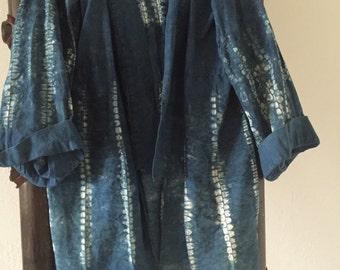 Cotton muslin Shibori Jacket