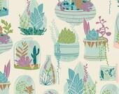 Art Gallery Fabrics - Succulence - Habitat Bedew by Bonnie Christine