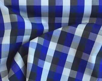 Japanese Cotton Plaid Shirting - Purple/Gray/Black