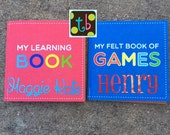 SALE!!! Personalized Children's Activity Book Quiet Book