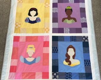 Princess Crib Blanket / Quilt / Bedding