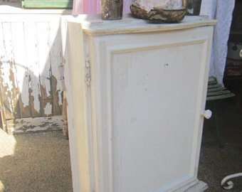 Vintage cupboard  Chippy white shabby chic   shabby chic cottage chic