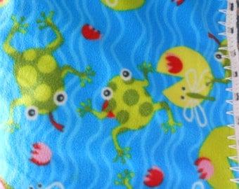 Frogs Fleece Baby Blanket