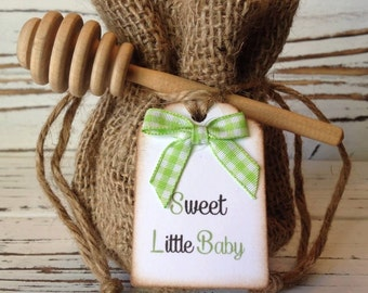20 Qty Country Baby Shower Honey Favors With Dipper U0026 Personalized Tag